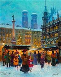 weihnachtsmarkt auf dem marienplatz by detlev nitschke