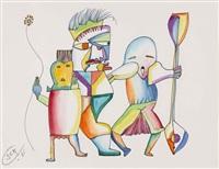 drei groteske figuren by johann georg müller