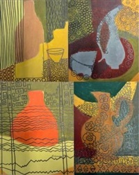 untitled i; 2; 3; and 4 (4 works) by edwine simone