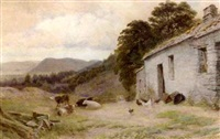 old cottage, trefriw by albert william ayling