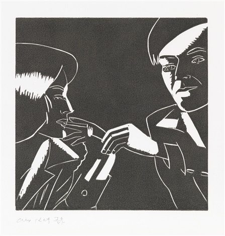 carter and phyllis from a tremor in the morning by alex katz