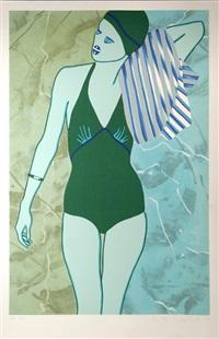 bathing in green by kiki kogelnik