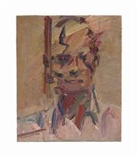 head of david landau ii by frank auerbach