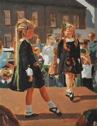 irish dancers, portaferry by rowland davidson