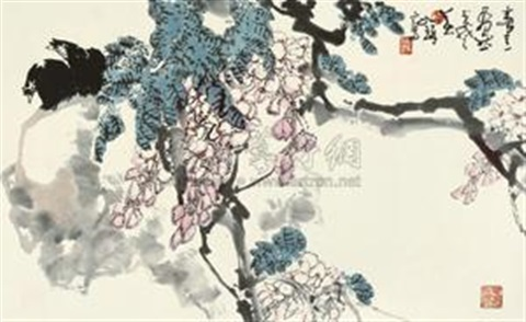 春意盎然 birds and flowers by cui ruzhuo