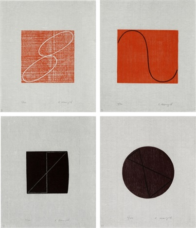 untitled set of 7 by robert mangold