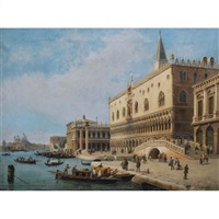 view of the palazzo ducale, venice by luigi querena