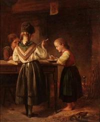 le déjeuner des enfants by charles auguste romain lobbedez