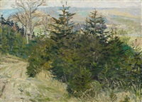 herbstliche (elb?)landschaft by otto dix