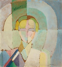 portrait de madame heim by robert delaunay