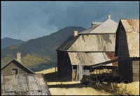 farm study ~ grand forks, bc by geoffrey allan rock