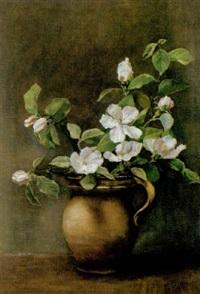 blühende zweige in vase by cecil van haanen
