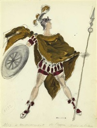 costume design for the opera l'incoronazione di poppea by dimitri bouchene