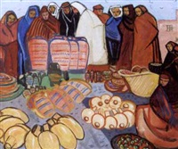 marchandes au souk by maurice leonard