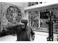 pierre alechinsky dans son atelier de bougival by francis apesteguy