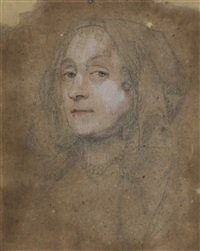 portrait of a lady, traditionally identified as lucy sherman by john greenhill