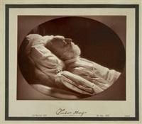 victor hugo, portrait mortuaire by nadar