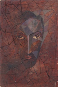 self-portrait in purple by eduard ziuzin