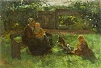 in the garden by jacob simon hendrik kever