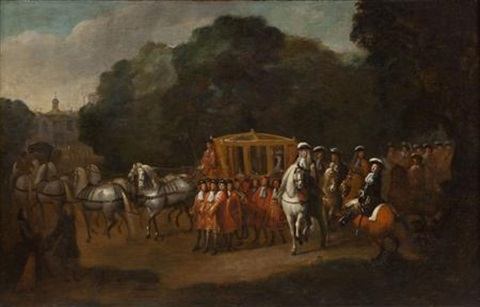 william iiis procession to the houses of parliament by alexander van gaelen