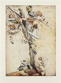 der große sturz (3 works) by gerhard hofmann