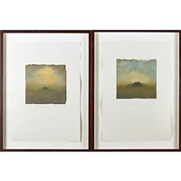 quiet summer pinon field and irish dreams of pinon fields back home (2 works) by carol anthony