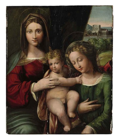 the madonna and child with saint catherine by benvenuto tisi da garofalo