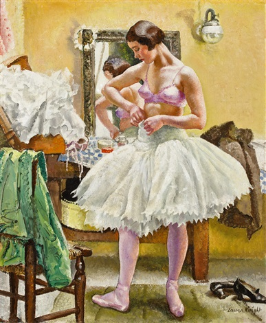 dancer in dressing room by dame laura knight