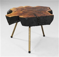circular tree-trunk table by carl auböck