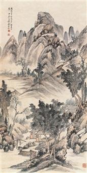 阳朔山景 立轴 设色纸本 ( landscape) by huang binhong