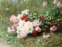 fleurs fraîchement cueillies by louis marie lemaire