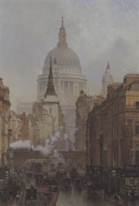 ludgate; evening by john o'connor