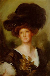 portrait of frances evelyn by charles simms