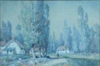 moonlight, a dorset village by a. moulton foweraker
