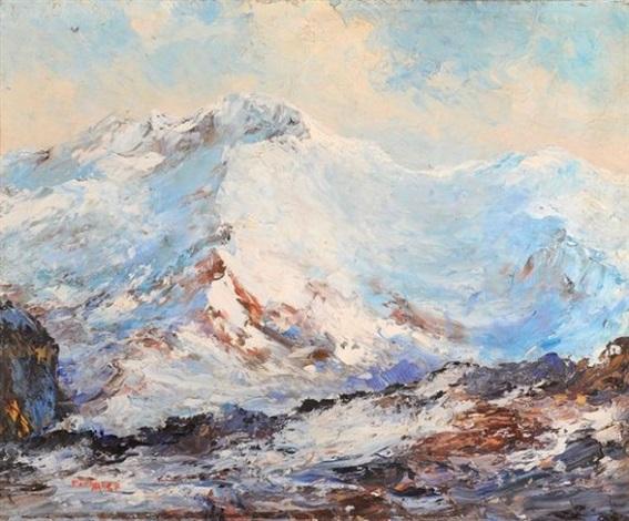 le mont blanc vu du mont joly mont darbois by paul angé nocquet