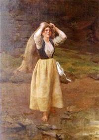 la jeune paysanne by eugène labitte