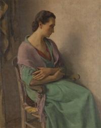 femme pensive by louis buisseret