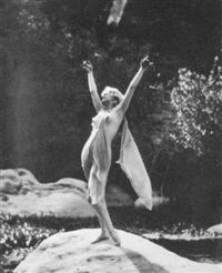 jean harlow, standing arms raised, griffith park by edwin bower hesser