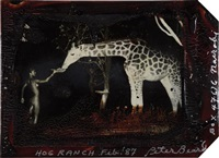 maureen gallagher and a late night feeder, hog ranch by peter beard