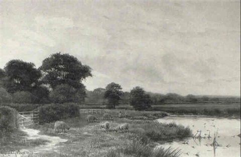on the bourne near chobham surrey by george oyston