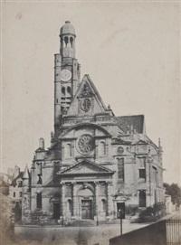 église de saint-etienne du mont, paris by francois alphonse fortier