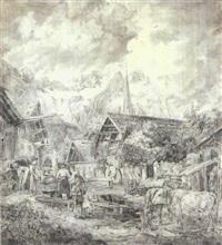 der morgen (preliminary sketch) by peter heinrich lambert von hess