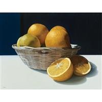 cesto com laranjas i by eduardo bortk