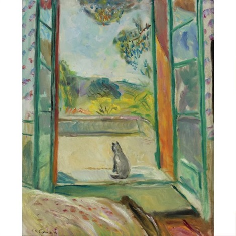 Le chat devant la fen tre ouvert aix en provence by for Matisse fenetre