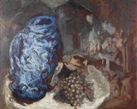 nature morte au vase bleu by gérard garouste