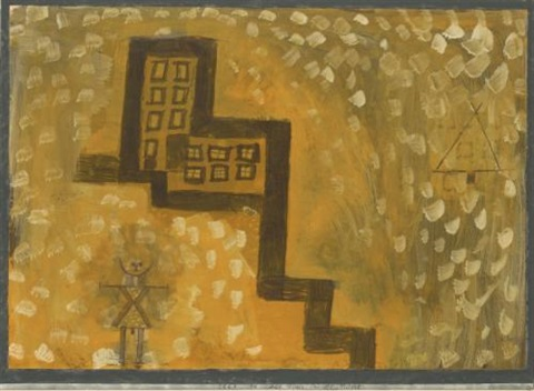 das haus in der höhe the house on high by paul klee