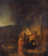 abraham chassant agar et ismaël by karel van der pluym