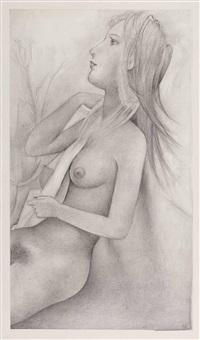 sitzender weiblicher akt by robert angerhofer