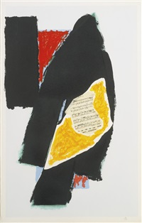 black for mozart (w. a. c. 521) by robert motherwell