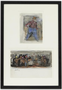 rodeo clown (+ waiting; 2 works in 1 frame) by otis dozier